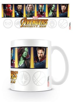 Caneca Avengers Infinity War - Characters And Emblems
