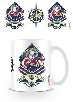 Caneca  Captain Marvel - Higher, Further, Faster