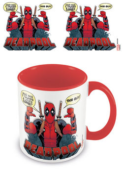 Caneca  Deadpool - 2 Thumbs /Red