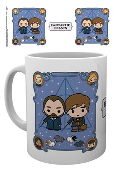 Caneca Fantastic Beasts: The Crimes Of Grindelwald - Chibi Newt and Dumbledore