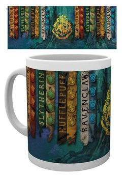 Caneca  Harry Potter - House Flags