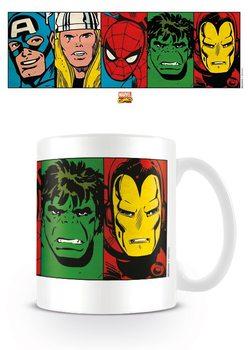 Caneca Marvel Retro - Faces