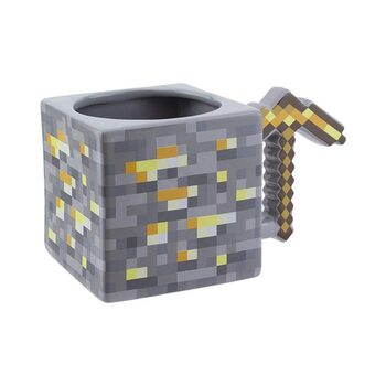 Caneca Minecraft - Gold Pickaxe