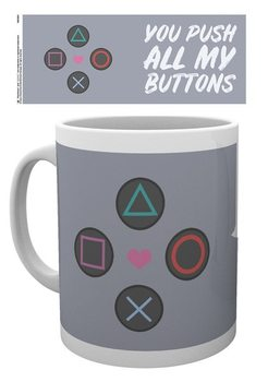 Caneca  Playstation - Push my Buttons