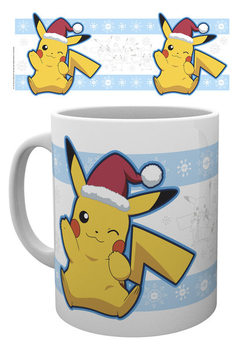 Caneca  Pokemon - Pikachu Santa