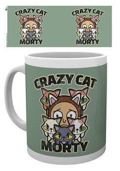 Caneca Rick And Morty - Crazy Cat Morty