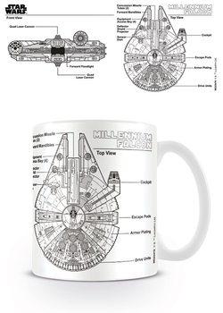 Caneca  Star Wars - Millennium Falcon Sketch