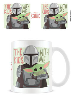 Caneca Star Wars: The Mandalorian - The Kids With Me