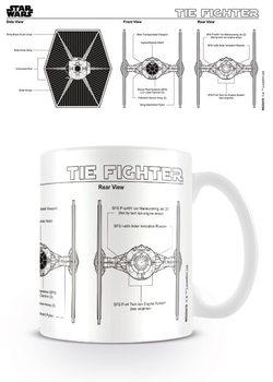 Caneca  Star Wars - Tie Fighter Sketch