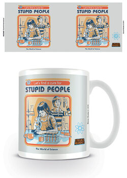Caneca Steven Rhodes - Let's Find A Cure For Stupid People