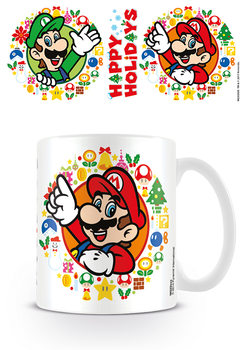 Caneca Super Mario Bros - Happy Holidays