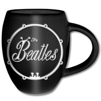 Caneca  The Beatles – White On Black Bug Logo Oval