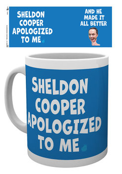 Caneca  The Big Bang Theory - Sheldon Cooper Apologized