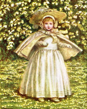'A baby in white'  by Kate Greenaway Canvas Print