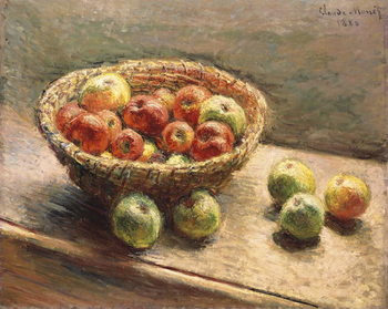 Canvas Print A Bowl of Apples; Le Panier de Pommes, 1880