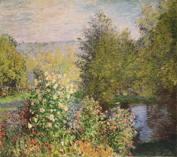 A Corner of the Garden at Montgeron, 1876-7 Canvas Print