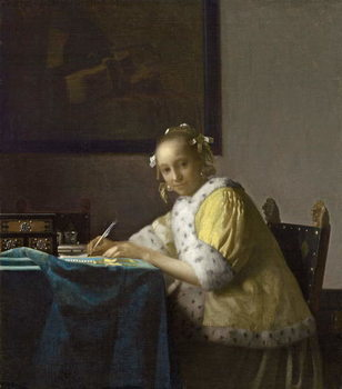 A Lady Writing, c. 1665 Canvas Print