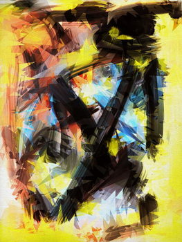 A little chaos, 2018, Canvas Print