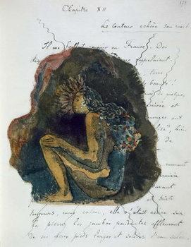 A native Deity, from 'Noa Noa, Voyage a Tahiti', published 1926 Canvas Print