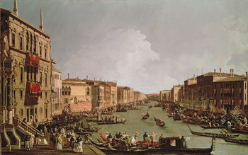 A Regatta on the Grand Canal, c.1735 Canvas Print
