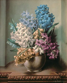 Canvas Print AB/313 Hyacinths in a Pottery Vase