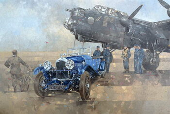 Able Mable and the Blue Lagonda Canvas Print