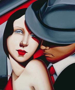 Adam & Eve, Gangster Study Canvas Print