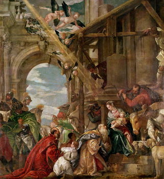 Adoration of the Kings, 1573 Canvas Print