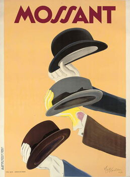Advertising poster for Mossant hats, 1938 Canvas Print