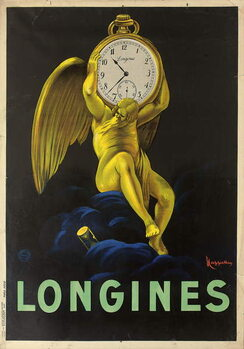 Advertising poster for the Swiss watchmakers Longines, 1922 Canvas Print