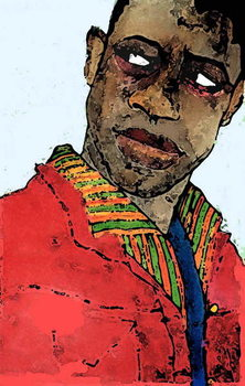 Afro-american man Canvas Print