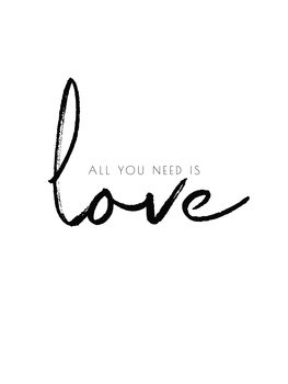 All you need is love Canvas Print