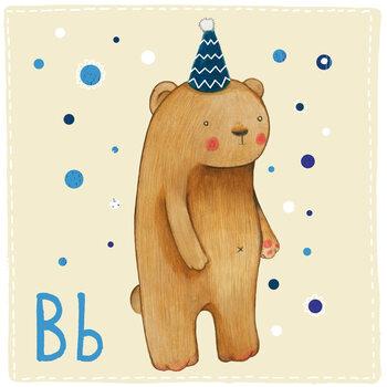 Canvas Print Alphabet - Bear