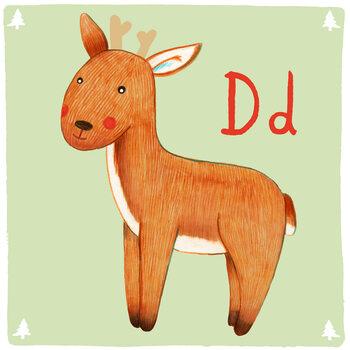 Canvas Print Alphabet - Deer