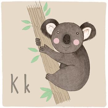 Canvas Print Alphabet - Koala