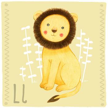 Canvas Print Alphabet - Lion