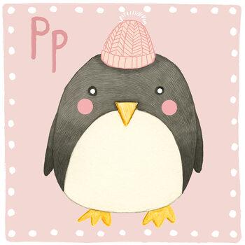 Canvas Print Alphabet - Penguin