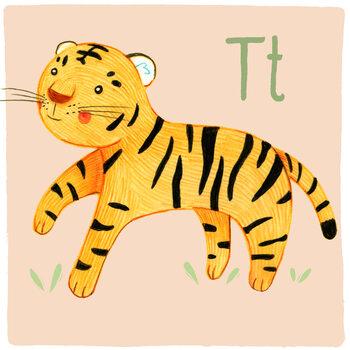 Canvas Print Alphabet - Tiger