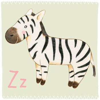 Canvas Print Alphabet - Zebra