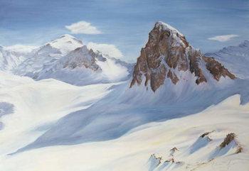 Alpine Shadows, 2000 Canvas Print