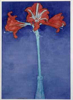 Amaryllis (Hippeastrum) Painting by Piet Mondrian  New York, Museum of Modern Art Canvas Print