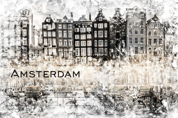 Canvas Print AMSTERDAM Collage