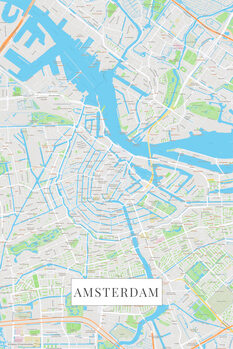Canvas Print Amsterdam color