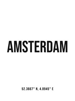 Canvas Print Amsterdam simple coordinates