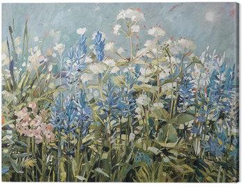 Canvas Print Anne-Marie Butlin - Blue Summer Border