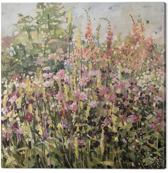 Anne-Marie Butlin - Spring Garden with Cosmos Canvas Print