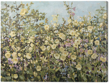 Anne-Marie Butlin - Yellow Hollyhocks Canvas Print