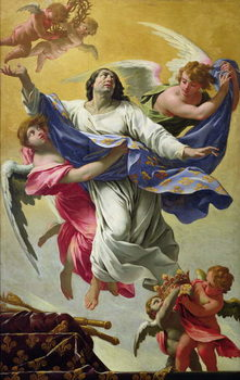 Apotheosis of St. Louis, 1639-42 Canvas Print