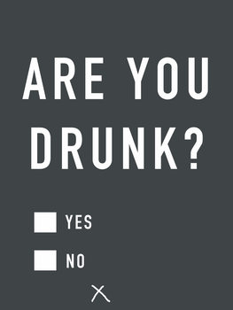 Are you drunk Canvas Print