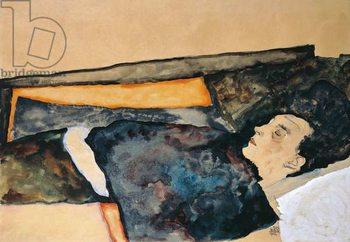 Artist's mother sleeping Canvas Print